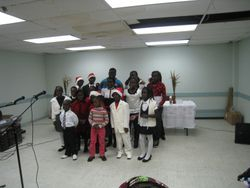 Sunday School Choirs display on 25/12/2009