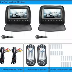 9 inch dvd headrest monitor with games, radio and dvd player!