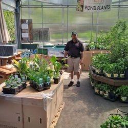 Es loves unloading his Pond Plants!!