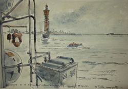 Dunkerque retour d'Hambourg 33 x 23 cm
