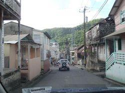 Driving through Souffriere