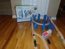 Imaginarium Wooden Spiral Train Set - $30