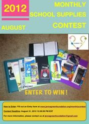 JGF August Monthly School Supplies Contest
