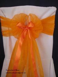 Orange wide with ribbon.
