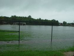 Flooded South U10 field