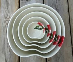 Clematis Nesting Bowl Set ~ Top View