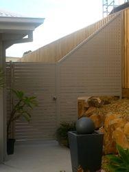 Raked Fence Panel