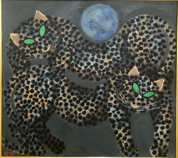 Two Leopard and Blue Moon