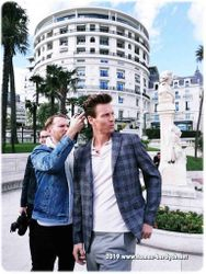 Hair Stylist Martin Tyl and Tomas Berdych as a model