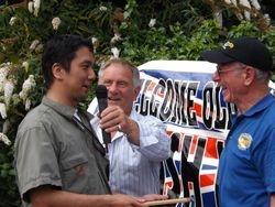 Shuhei Aoki, Frank Rimer, Johnny Saint