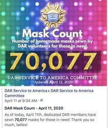 April 11th, 2020 - 70,077 Masks Made