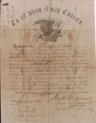 Thomas Lucas Norris' Discharge Papers
