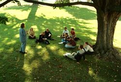 Roberts Wesleyan College Open Air Class.