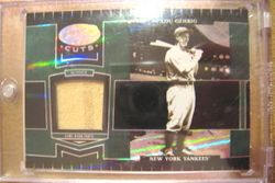 Lou Gehrig 2004 DonrussPlayoff Leaf Certified Cuts Game Used Pants Card