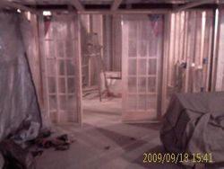 Framing French Doors In Office