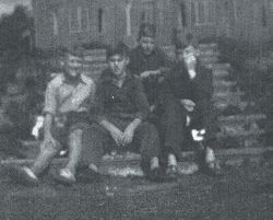 Group on the terrace steps ( Poor Quality)