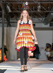DFW Teen Fashion Week ~ This dress was made by my assistant, Trica. I think she did an amazing job!