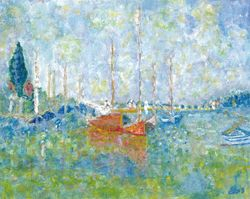 Interpretation of Argenteuil by Monet - France