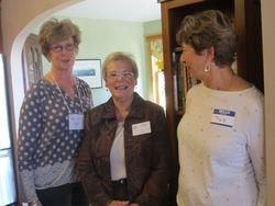 Tea Hostess Joanne Wilhelm, Corres. Sec. Sue Bacon, new member Pat Devanney