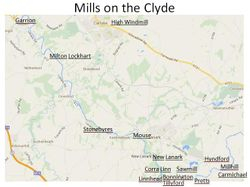 Mill sites on the River Clyde