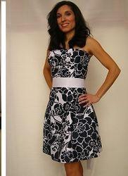 Navi and White Dress $70