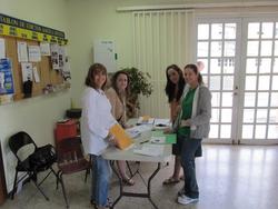 Coordinadoras del evento