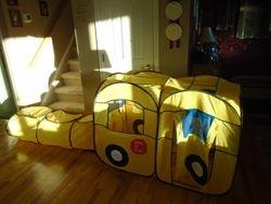 Playhut School Bus EZ Vehicle Pop-Up Play Tent & Tunnel - $25