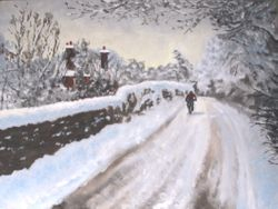 Headley Lane in snow
