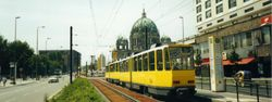 Tatra KT4Ds near Berlin Cathedral.