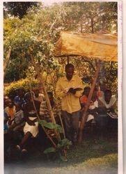 Brother Joseph teaching in Kenya
