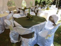 Reastaurant style wedding set up