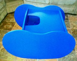 Solid Blue Chair