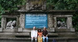 Mike Huffman, Charmalie Nahallage, and JB Leca (Ubud Monkey Forest, Bali, August 2008)
