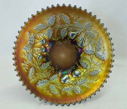 """Fruits and Flowers 7"""" plate, purple"""