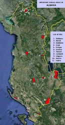 Important Fungal Areas in Albania