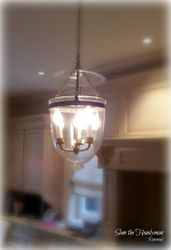 Kitchen lighting fixture installation