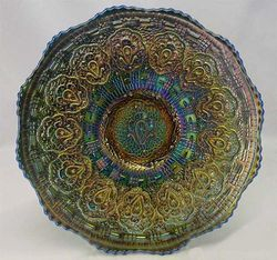 Persian medallion plate, blue
