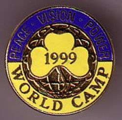 1999 World Camp Badge Metal