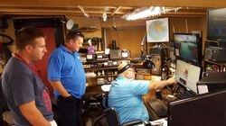 Dave NJ4F explaining RTTY operation