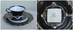 1920-30 m. puodelis su lekstutemis. Kaina 32 uz viska.