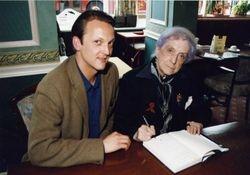 with Quentin Crisp, Edinburgh April 1996