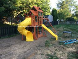 Cedar summit canyon ridge swing set assembly in baltimore