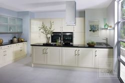 CROWN BONITO GLOSS OYSTER (PALE CREAM) PAINTED SHAKER KITCHEN