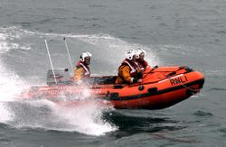 Fethard RNLI launch to kitesurfer in difficulty off Duncannon Fort