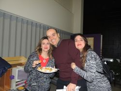 Challenge Club President Daniela and her parents Ana and Gustavo