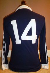 Scotland match worn football shirt 1977