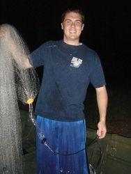 Matt Roberts - first shrimping trip!
