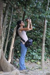 "Silvana Sita ""chasing"" a more elusive monkey (Ubud, Bali, June 2016)"