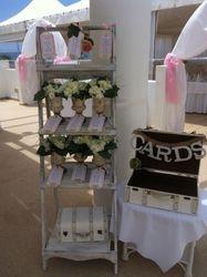 Decorative ladder & card box.