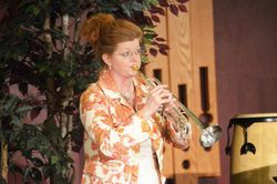 Sister Lorraine and her trumpet